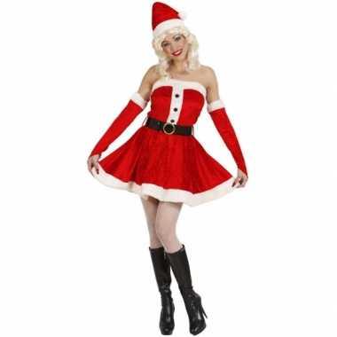 Fluwelen kerstjurk voor dames