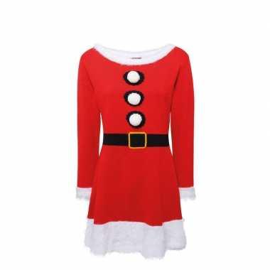 Gebreid kerstvrouw jurk voor dames
