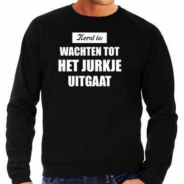 Kerst is: wachten tot het jurk uitgaat kerst sweater / kerst outfit zwart voor heren