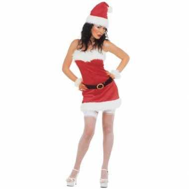 Kerstjurk flanel voor dames