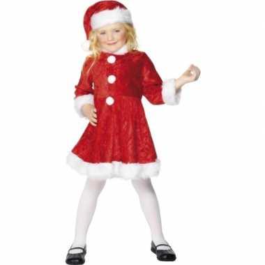 Kerstjurk met muts voor meisjes