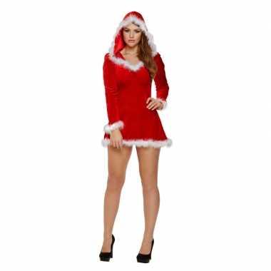 Sexy kerstjurk met capuchon voor dames