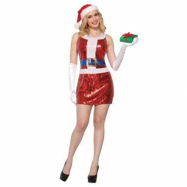 Sexy kerstjurk met pailletten voor dames