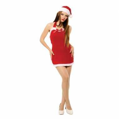 Sexy kerstvrouw jurk met kerstmuts voor dames